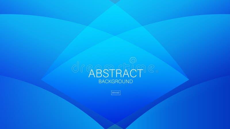 För bakgrundsvektor för blå våg abstrakt mall, geometriskt diagram, minsta textur, räkningsdesign, baner, reklambladbroschyr, web vektor illustrationer