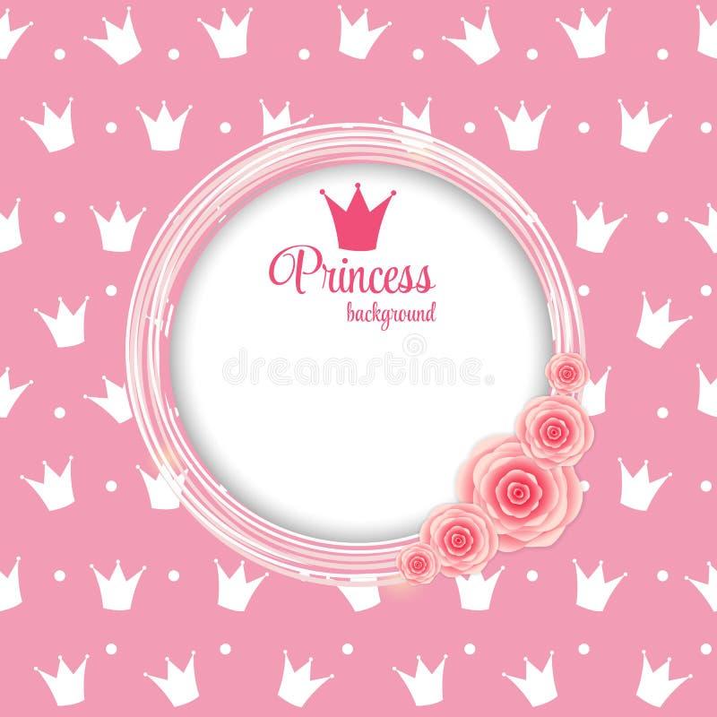 För bakgrundsvektor för prinsessa Crown illustration. vektor illustrationer