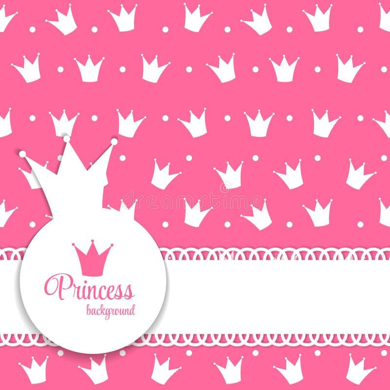 För bakgrundsvektor för prinsessa Crown illustration vektor illustrationer