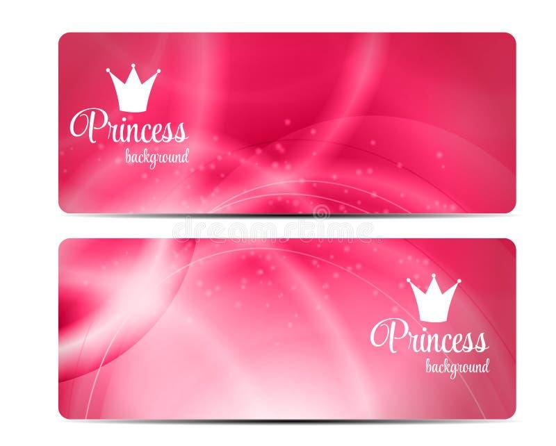För bakgrundsvektor för prinsessa Crown illustration royaltyfri illustrationer