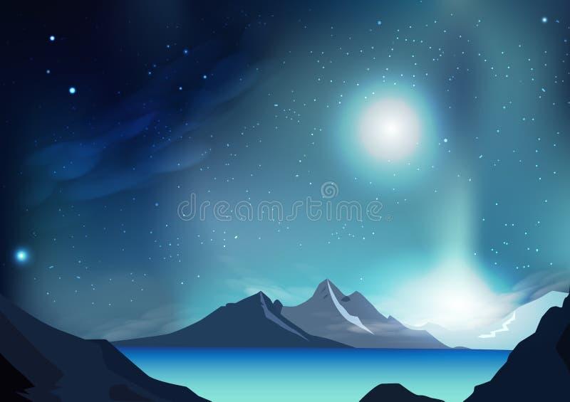 För bakgrundsvektor för fantasi abstrakt illustration med planeten och vektor illustrationer