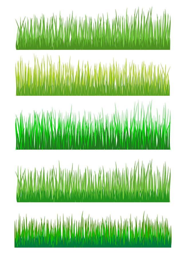För bakgrundsvektor för grönt gräs samling vektor illustrationer