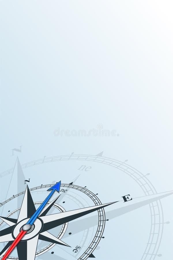 För bakgrundsvektor för kompass nordostlig illustration stock illustrationer