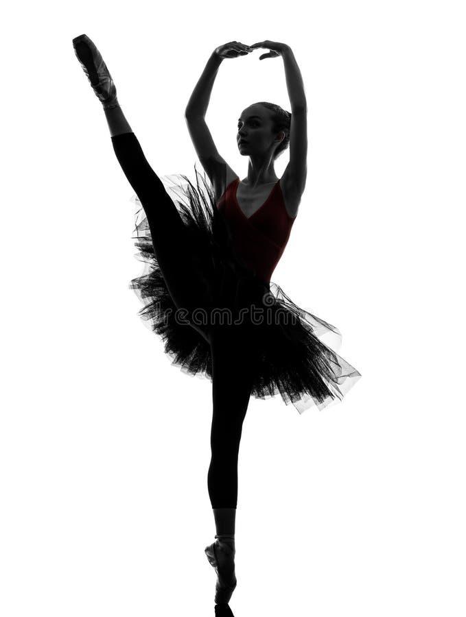 För ballerinabalettdansör för ung kvinna kontur för dans royaltyfri fotografi