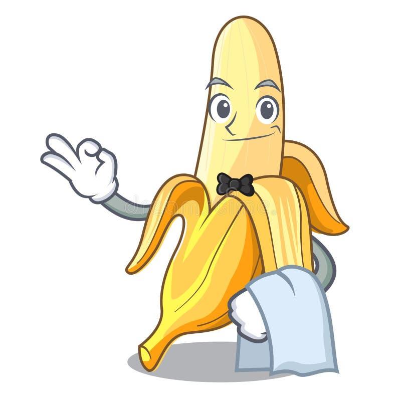 För bananfrukt för uppassare ny stil för tecknad film för maskot stock illustrationer