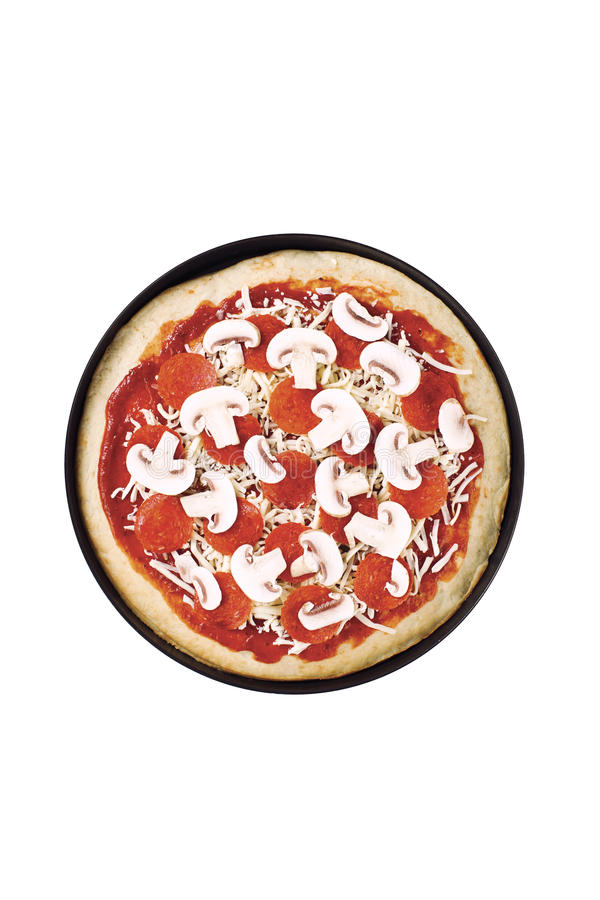 för banapeperoni för clipping bild isolerad pizza royaltyfria foton