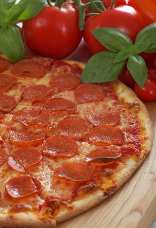 för banapeperoni för clipping bild isolerad pizza arkivfoton