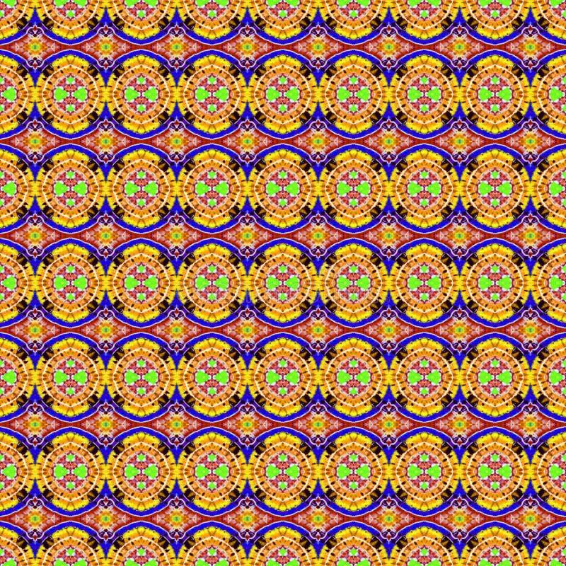 För bandfärg för bakgrund sömlös abstrakt modell royaltyfri bild