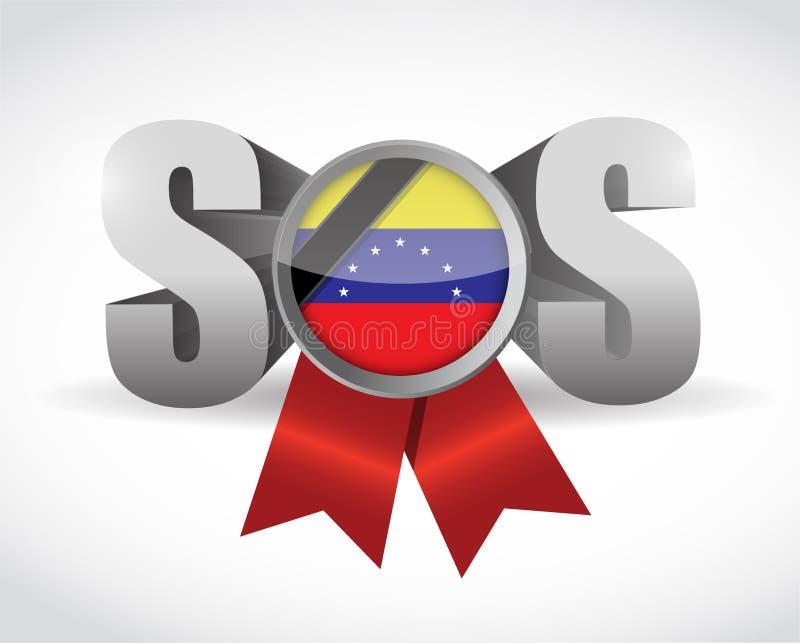 För bandillustration för Sos Venezuela design vektor illustrationer