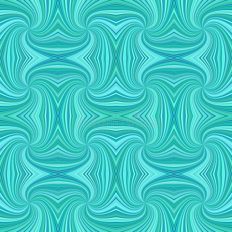 För bandmodell för turkos sömlös psykedelisk geometrcial spiral bakgrund - vektordesign stock illustrationer