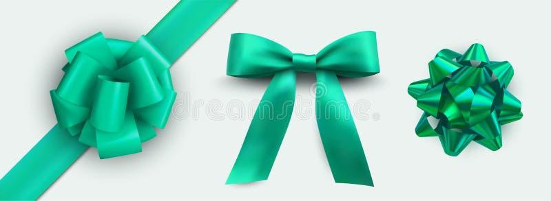 För bandpacke för ferie grön uppsättning, förpackande design vektor illustrationer