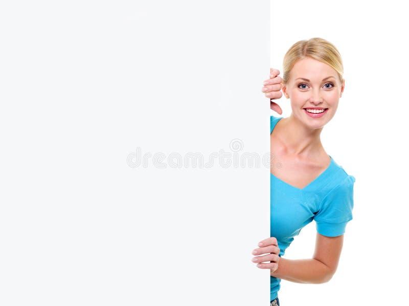 för baner blond för looks kvinna ut arkivbild