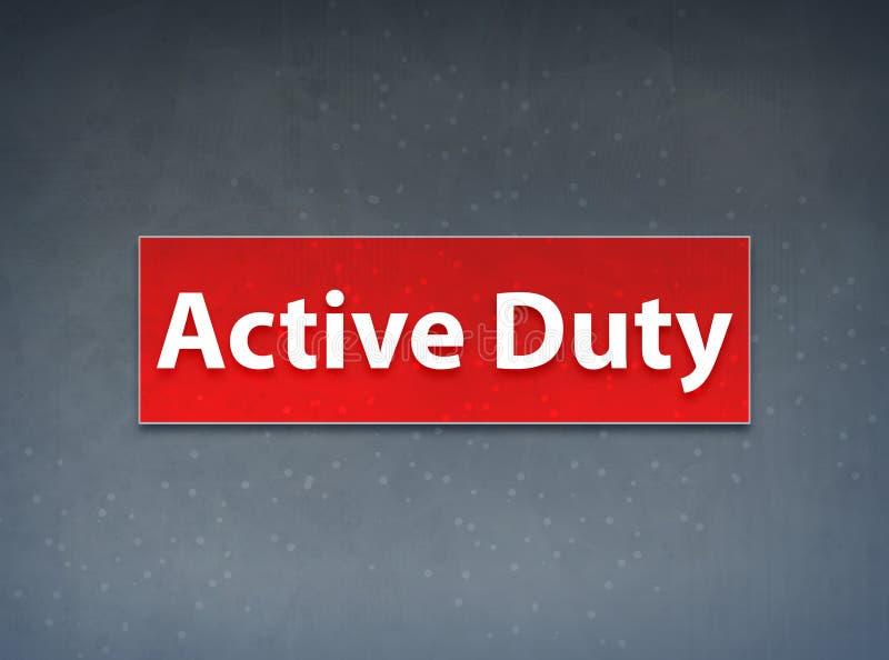 För banerabstrakt begrepp för aktiv arbetsuppgift röd bakgrund stock illustrationer