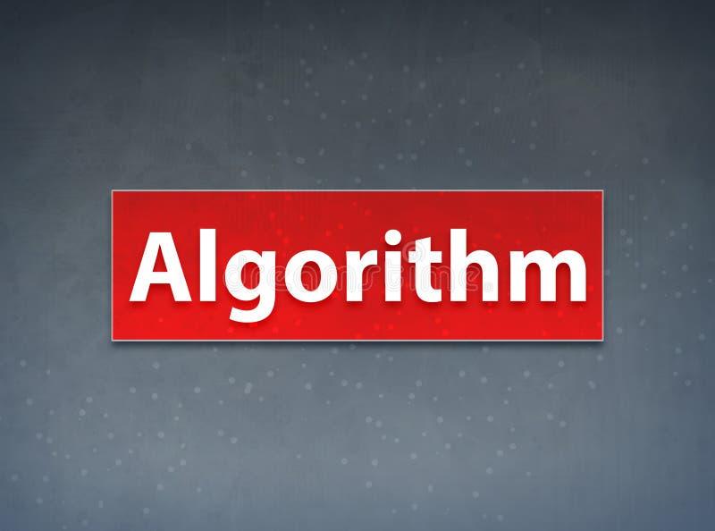 För banerabstrakt begrepp för algoritm röd bakgrund stock illustrationer