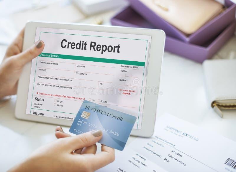 För bankrörelseekonomi för kreditupplysning finansiellt begrepp royaltyfria foton
