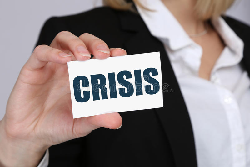 För bankrörelseledning för kris finansiell affärsidé för depts arkivbilder