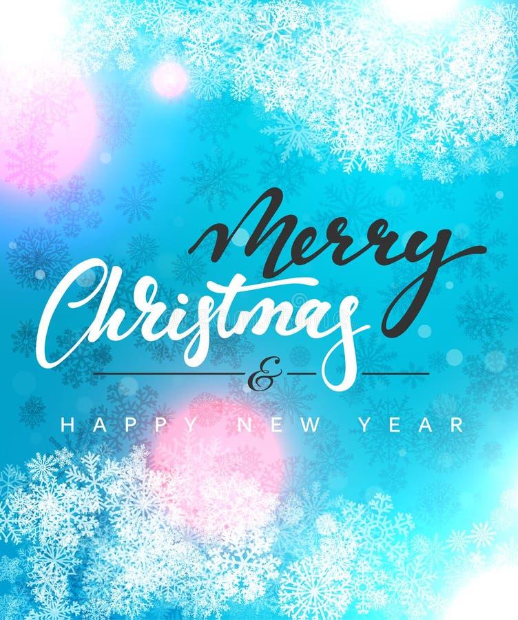 För begreppshälsning för glad jul och för lyckligt nytt år design för kort vektor illustrationer