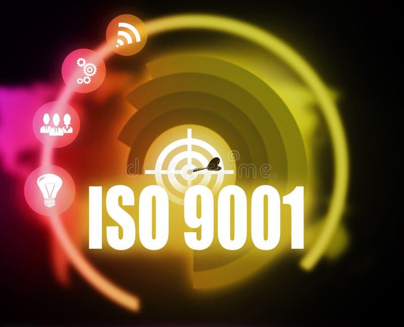 För begreppsplan för Iso 9001 diagram vektor illustrationer