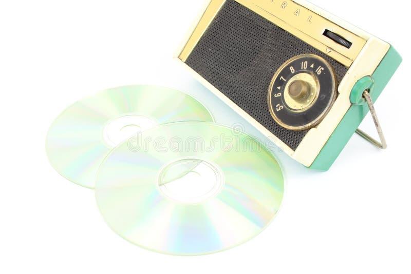 För begreppsslut för musik Mp3 tappning arkivfoto
