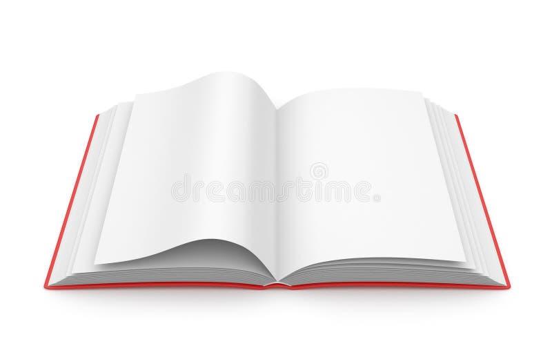 för begreppsutbildning för bok 3d öppnat tomt stock illustrationer