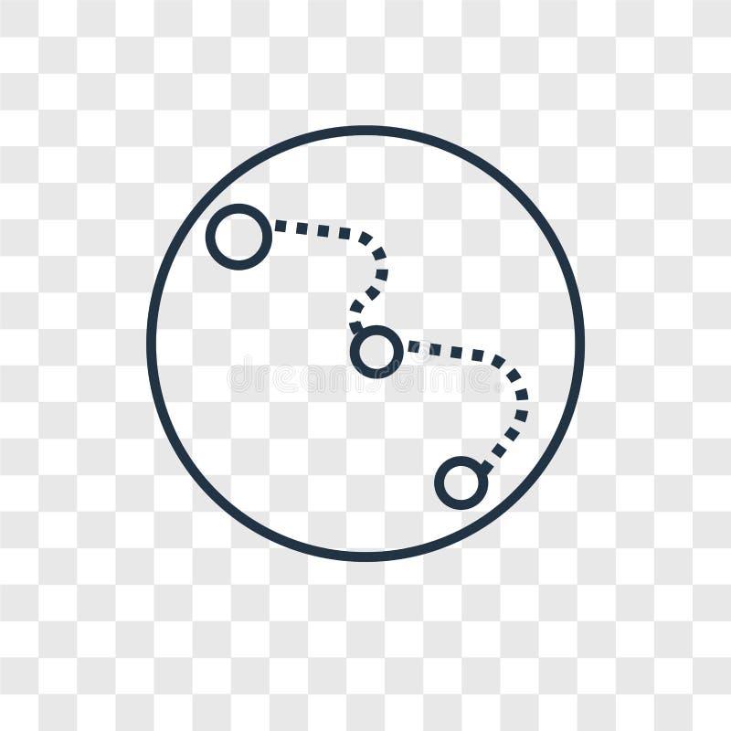 För begreppsvektor för stor skopa som linjär symbol isoleras på genomskinliga lodisar stock illustrationer