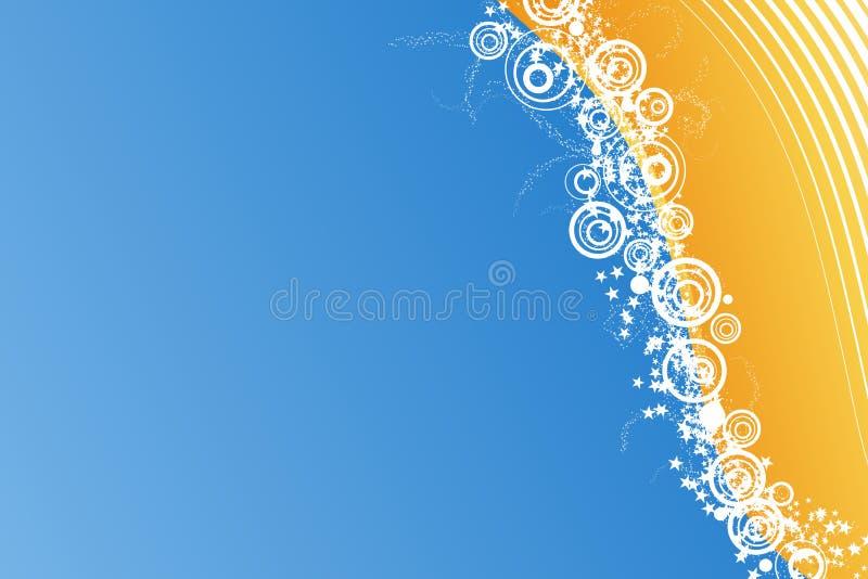 för berömmiljoner för bakgrund blåa stjärnor royaltyfri illustrationer