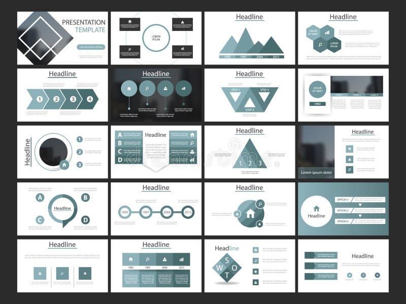 För beståndsdelpresentation för blå fyrkantig packe infographic mall affärsårsrapport, broschyr, broschyr som annonserar reklambl vektor illustrationer