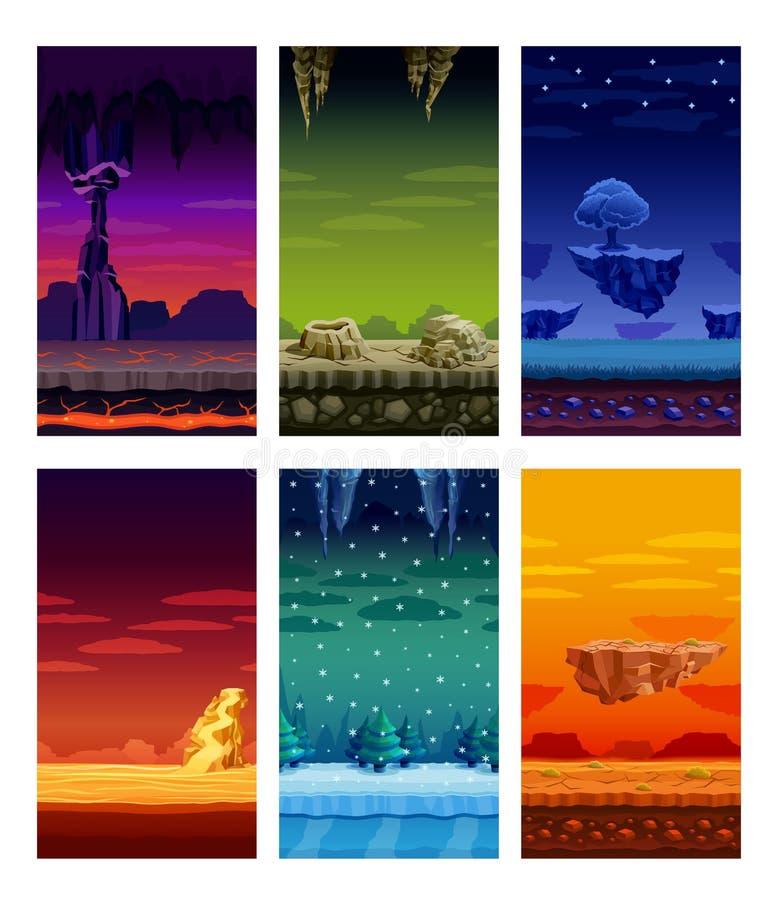 För beståndsdeltecknad film för dataspelar färgrik uppsättning stock illustrationer