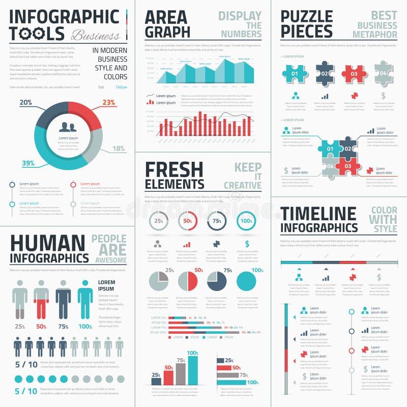 För beståndsdelvektor för affär infographic illustration vektor illustrationer