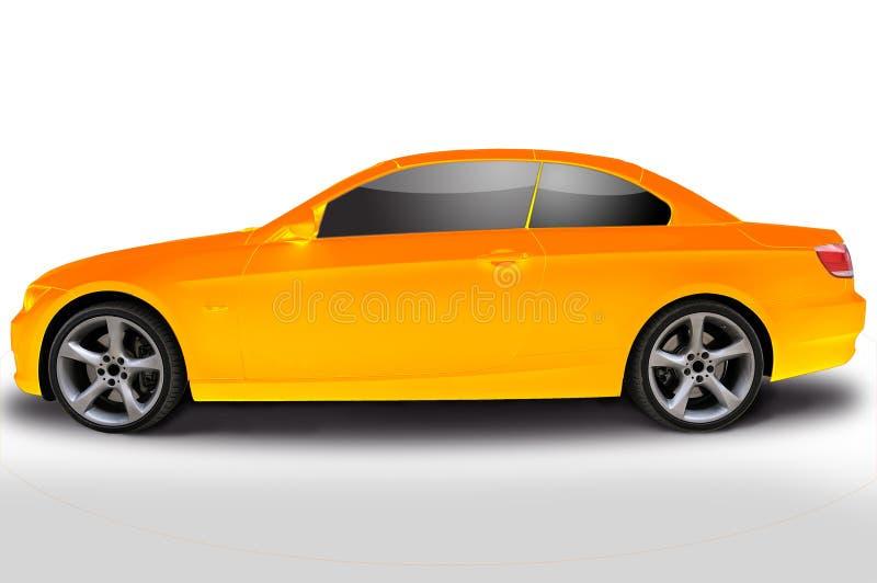 för bilcabriolet för bmw 335i yellow stock illustrationer