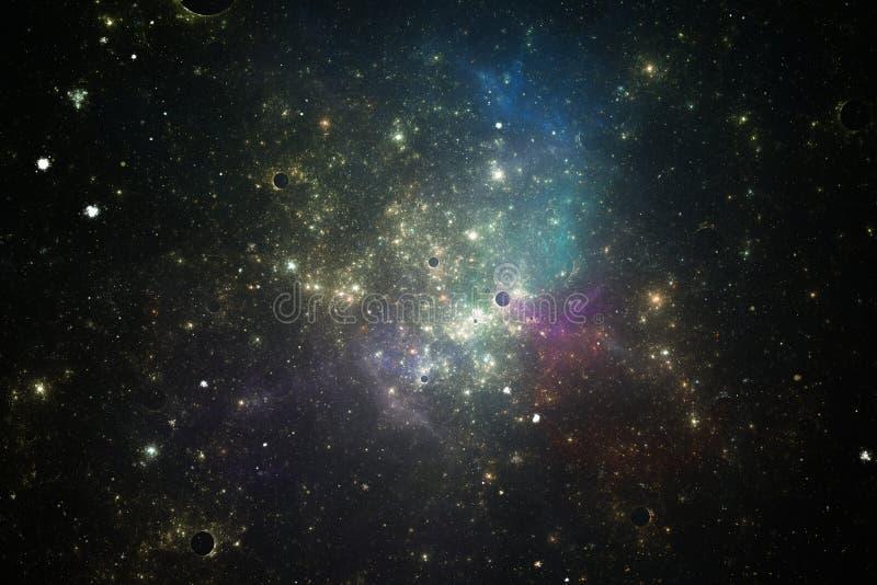 för bildnebula för oklarheter djupa stjärnor för avstånd royaltyfria bilder