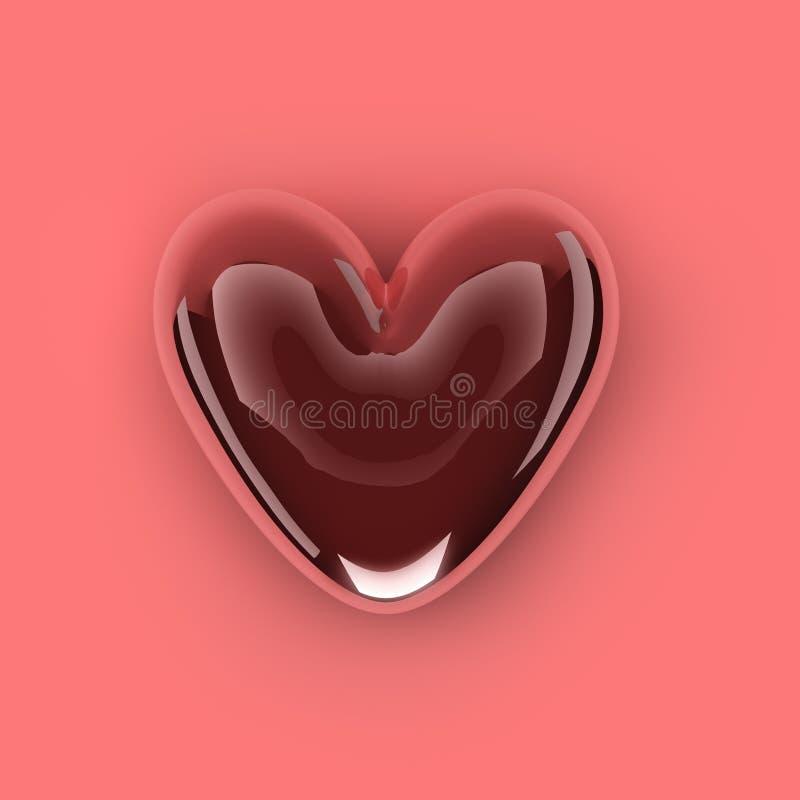 för bildred för hjärta 3d form royaltyfria foton