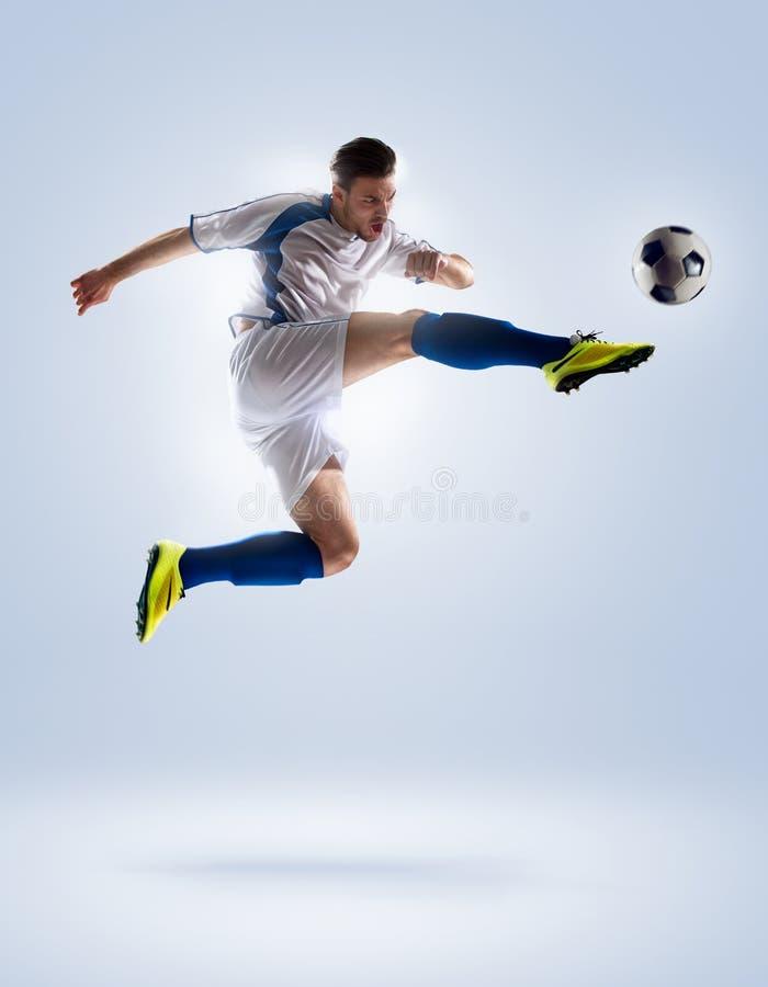 för bildspelare för uppgift full isloted studio för fotboll arkivfoton