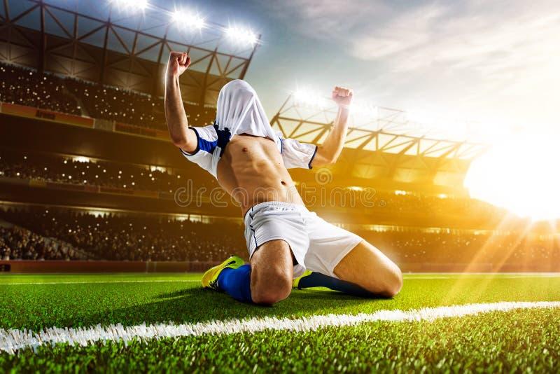för bildspelare för uppgift full isloted studio för fotboll royaltyfri fotografi