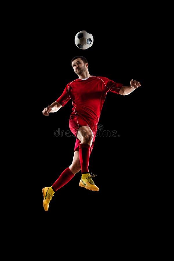 för bildspelare för uppgift full isloted studio för fotboll fotografering för bildbyråer