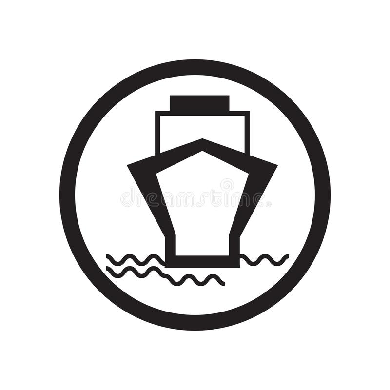 För bilsymbol för färja som bärande tecken och symbol för vektor isoleras på vit bakgrund, för billogo för färja bärande begrepp royaltyfri illustrationer