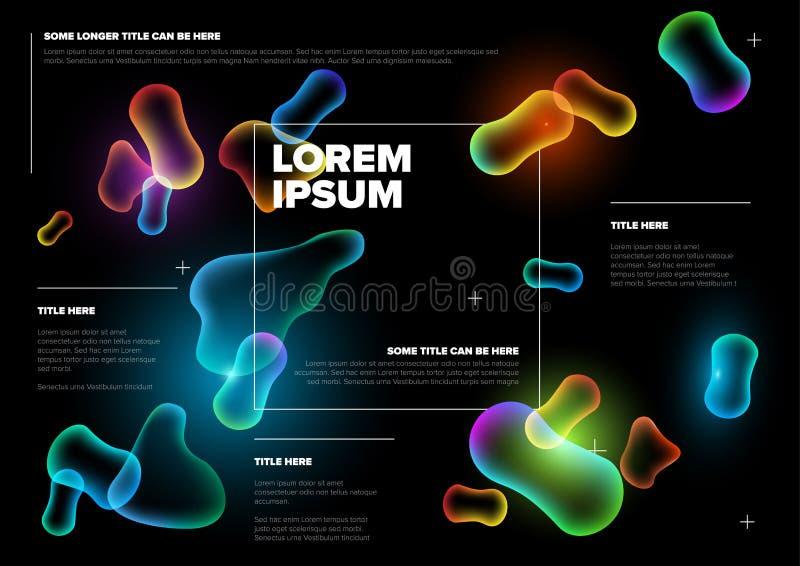 För biologireklamblad för vektor abstrakt mall stock illustrationer