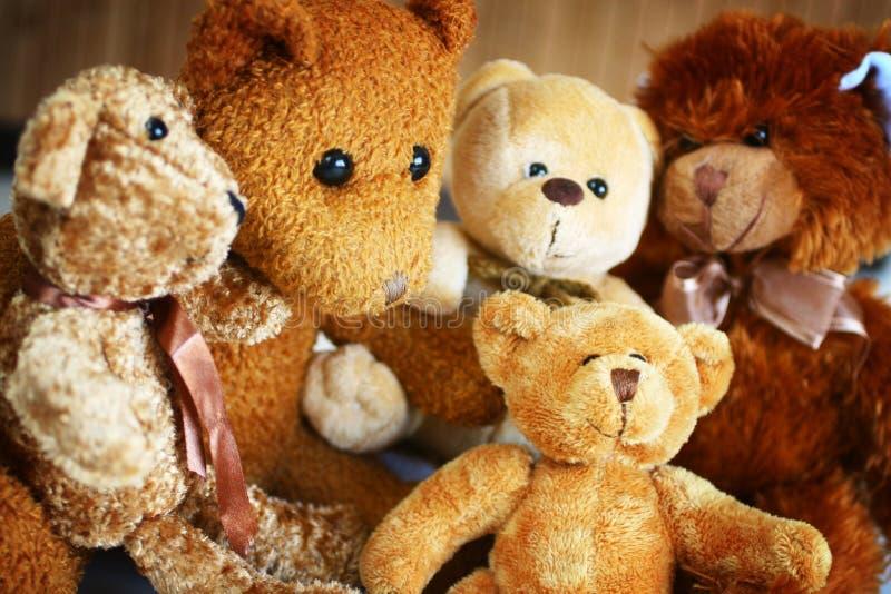 för björn nalle familly arkivfoto