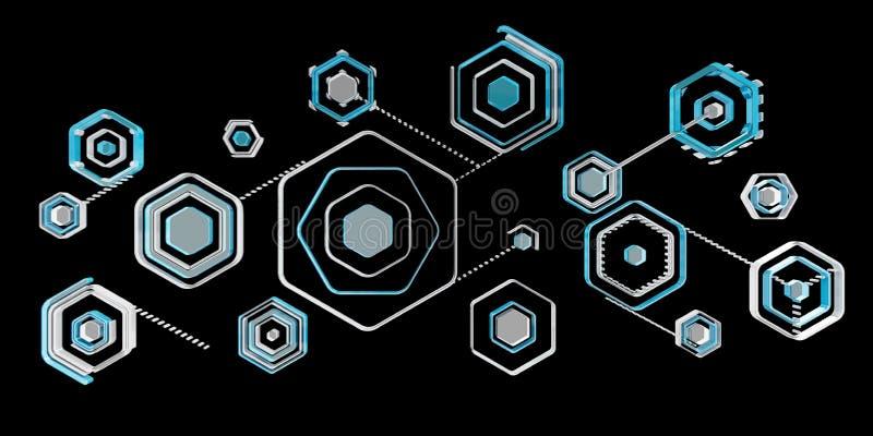 För blåttmanöverenhet 3D för Antivirus digital tolkning stock illustrationer