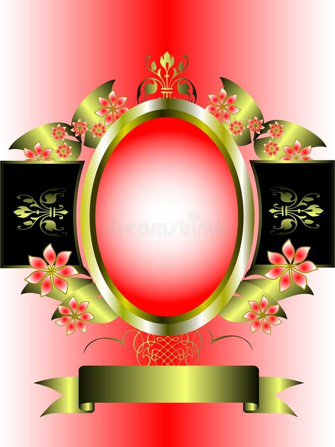 för blom- graderad pink ramguld för bakgrund royaltyfri illustrationer