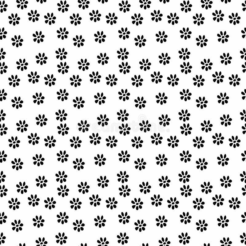 För blommamodell för vektor sömlös svartvit bakgrund vektor illustrationer