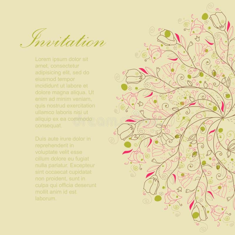 För blommaprydnad för Swirl gullig vektor royaltyfri illustrationer