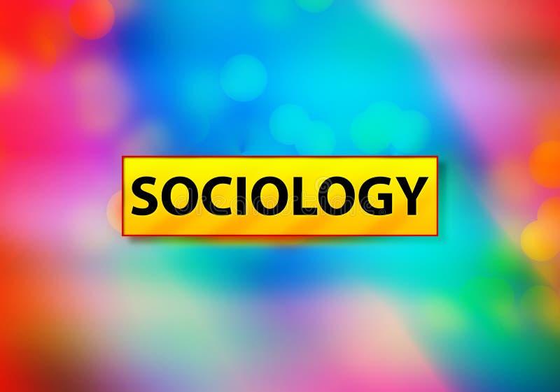 För Bokeh för bakgrund för sociologiabstrakt begrepp färgrik illustration design stock illustrationer