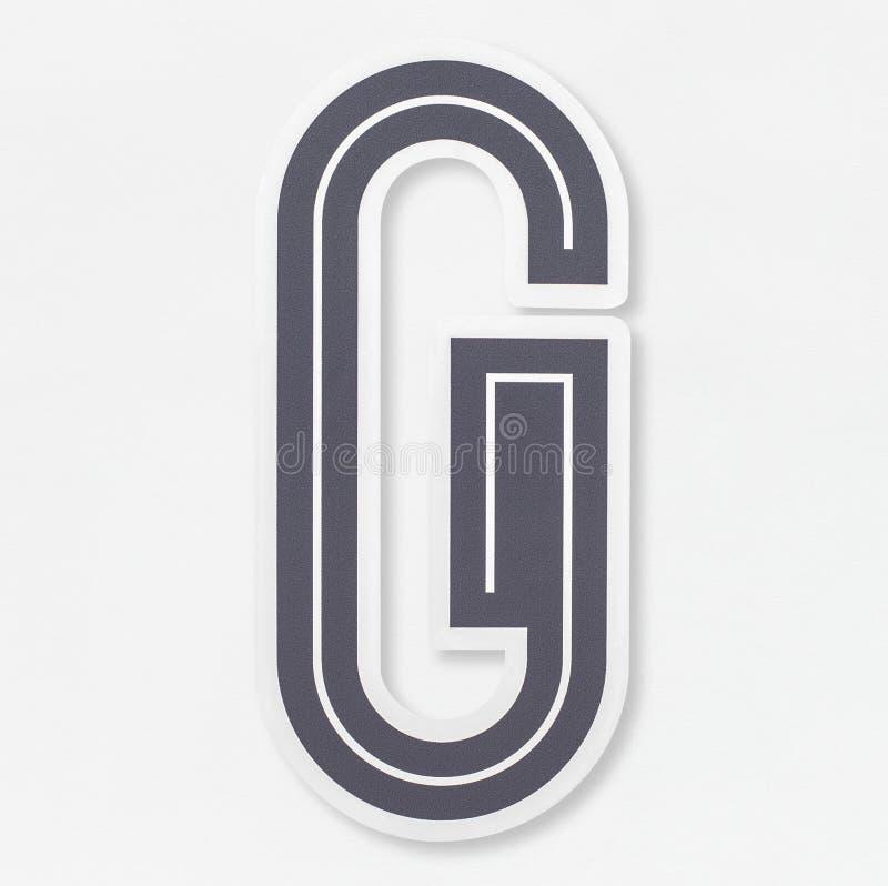 För bokstavsG för engelskt alfabet isolerad symbol vektor illustrationer