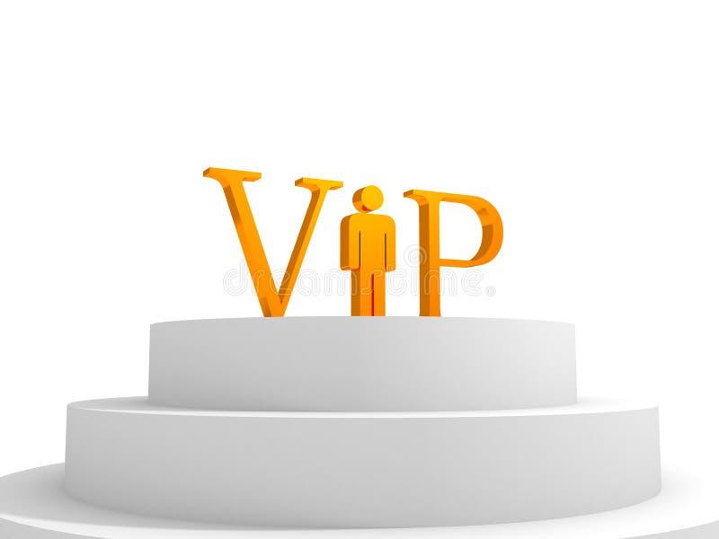 för bokstavsman för begrepp guld- podium vip royaltyfri illustrationer
