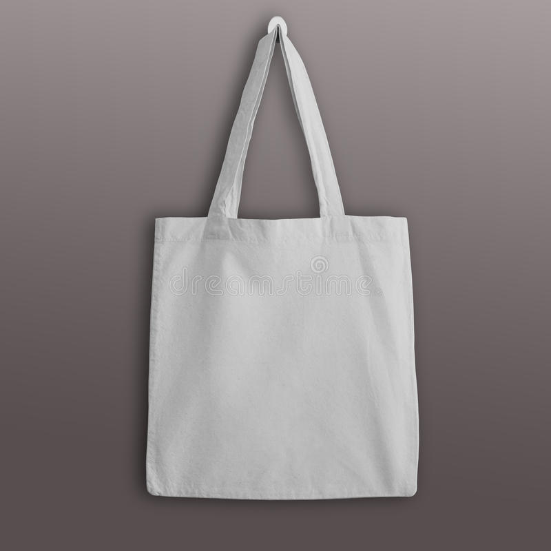 För bomullseco för vit tom påse för toto, designmodell royaltyfri foto