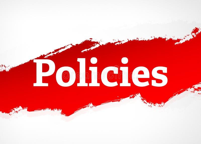 För borsteabstrakt begrepp för politik röd illustration för bakgrund vektor illustrationer