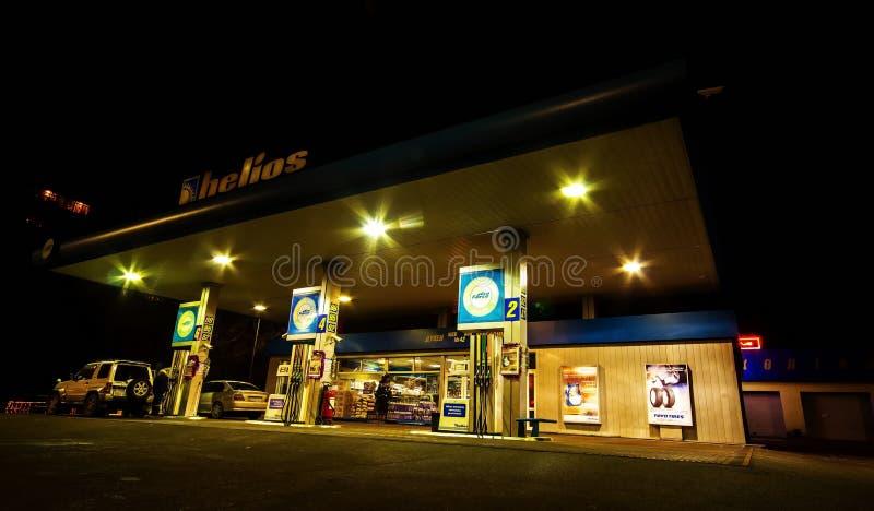 för bränslepetrol för bil fyllande station royaltyfri foto