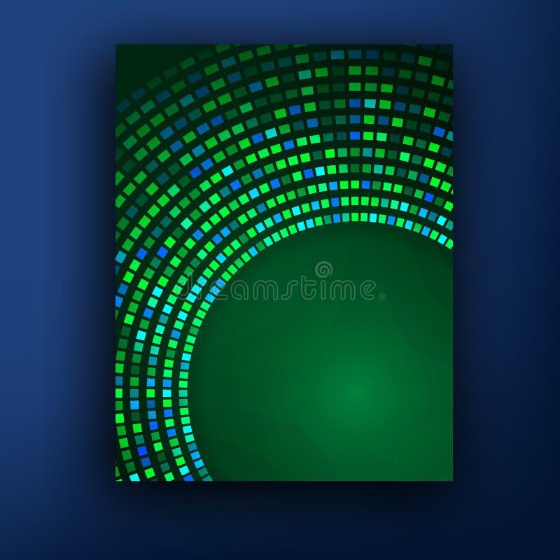 För broschyrdesign för vektor grön uppsättning stock illustrationer