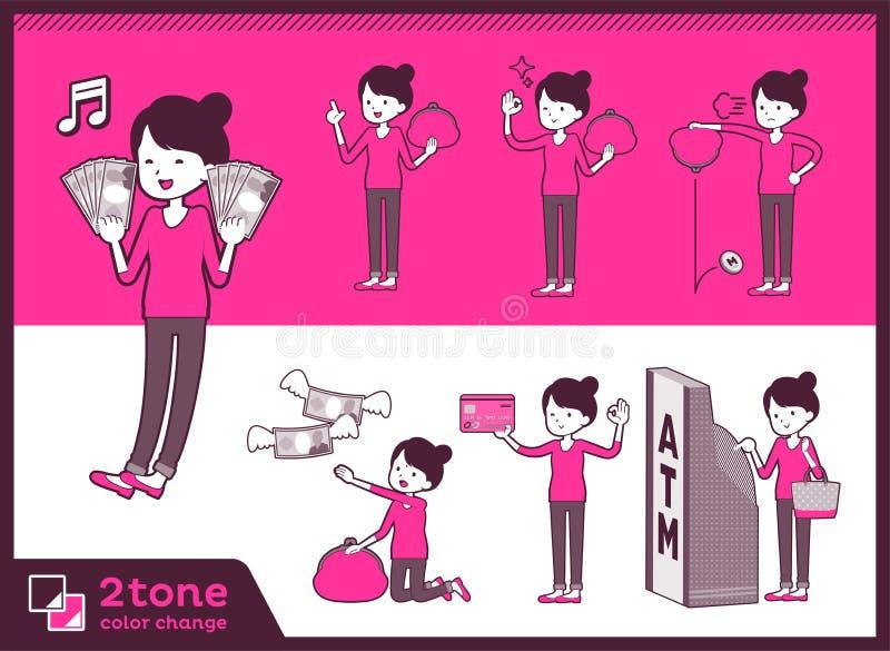 för bullehår för typ 2tone flåsanden utformar mom_set 11 stock illustrationer